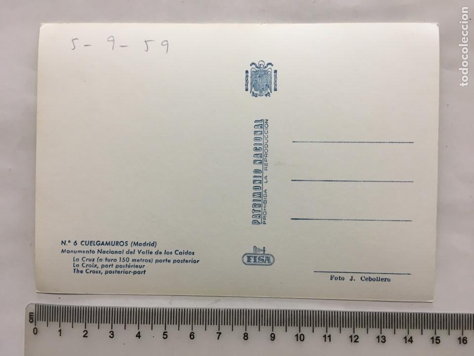 Postales: POSTAL. CUELGAMUROS. MADRID. VALLE DE LOS CAÍDOS. FISA. FOTO J. CEBOLLERO. H. 1955?. - Foto 2 - 160593121