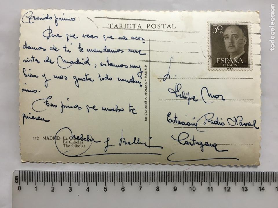 Postales: POSTAL. MADRID. LA CIBELES. EDIC. F. MOLINA. H. 1958?. - Foto 2 - 160593989