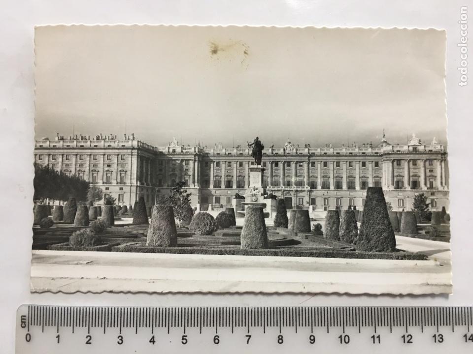 POSTAL. MADRID. PALACIO NACIONAL Y JARDINES. DOMÍNGUEZ. H. 1950?. (Postales - España - Madrid Moderna (desde 1940))