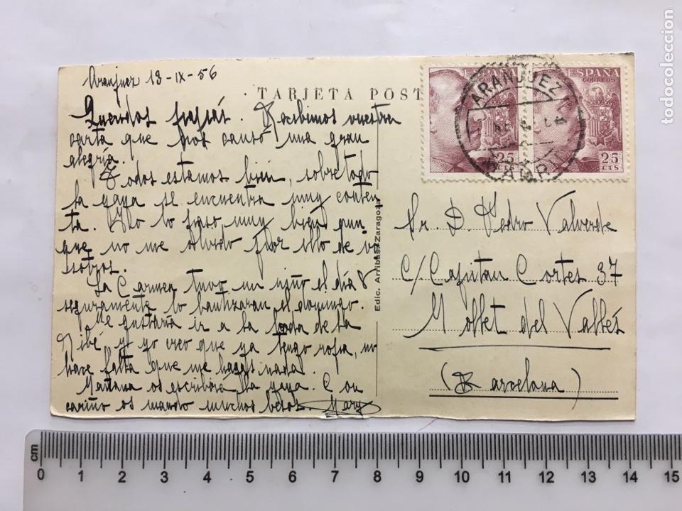 Postales: POSTAL. ARANJUEZ. PAISAJE DEL RÍO TAJO Y PUENTE. EDIC. ARRIBAS. H. 1950?. - Foto 2 - 160602734
