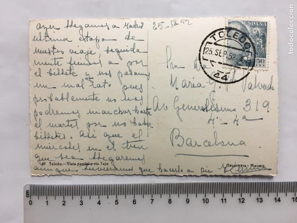 Postales: POSTAL. TOLEDO. VISTA PARCIAL Y RÍO TAJO. HELIOTIPIA. MADRID. H. 1950?. - Foto 2 - 160603449