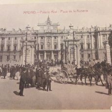 Postales: ANTIGUA POSTAL MADRID PALACIO REAL PLAZA ALMERÍA CASTAÑEIRA ÁLVAREZ Y LEVENFEELD AYUNTAMIENTO MADRI. Lote 161147821