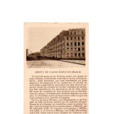 Postales: MADRID.- GRUPO DE CASA BARATAS.. Lote 161759982