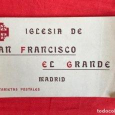 Postales: IGLESIA DE SAN FRANCISCO EL GRANDE . MADRID . BLOCK 20 POSTALES . HAUSER Y MENET .. Lote 163479674
