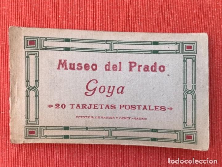 BLOCK GOYA MUSEO DEL PRADO 17 POSTALES CUADROS GOYA PRADO ( DE 20 ) HAUSER Y MENET (Postales - España - Comunidad de Madrid Antigua (hasta 1939))
