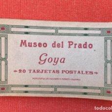 Postales: BLOCK GOYA MUSEO DEL PRADO 17 POSTALES CUADROS GOYA PRADO ( DE 20 ) HAUSER Y MENET. Lote 163735574