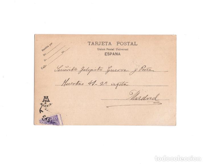 Postales: MADRID.- EL ALFONSO XIII. EN EL TIRO DE PICHÓN, ESPERANDO SU TURNO. - Foto 2 - 272733243