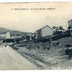Postales: MADRID CERCEDILLA COLONIA DE SAN ANTONIO. ED. BAZAR DE CERCEDILLA. ESCRITA. Lote 163774738