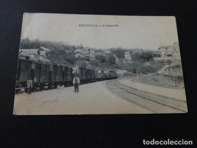 CERCEDILLA MADRID LA ESTACION (Postales - España - Comunidad de Madrid Antigua (hasta 1939))