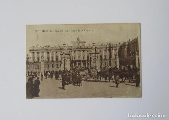 ANTIGUA POSTAL DE MADRID - PALACIO REAL - PALACIO DE LA ARMERIA (Postales - España - Comunidad de Madrid Antigua (hasta 1939))
