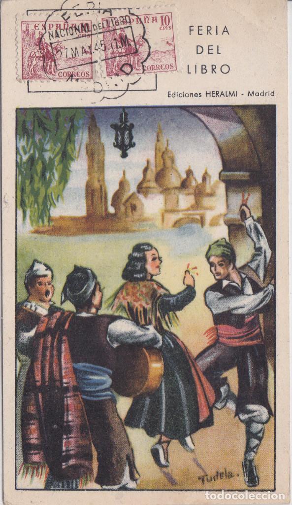 MADRID - INAUGURACION DE LA FERIA DEL LIBRO AÑO 1945 (Postales - España - Madrid Moderna (desde 1940))