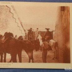 Postales: MADRID PLAZA DE TOROS SERIE DE TOROS DE LACOSTE. TRISTE ESPERA. REVERSO SIN DIVIDIR. SIN CIRCULAR.. Lote 164978202