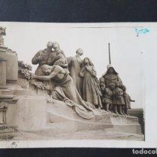 Postales: GETAFE MADRID CERRO DE LOS ANGELES DETALLE DEL MONUMENTO SAGRADO CORAZON 1921 POSTAL FOTOGRAFICA. Lote 165651486