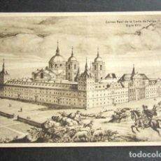 Postales: CORREO REAL DE LA CORTE DE FELIPE IV. SIGLO XVII. EL ESCORIAL, MADRID. ESTAMPAS DEL CORREO. . Lote 165674642