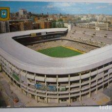 Postales: POSTAL MADRID FUTBOL -ESTADIO S.BERNABEU CIRCULADA. Lote 166018970