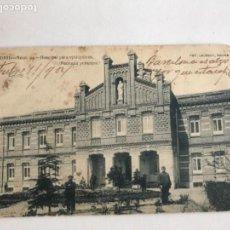Postales: POSTAL DE MADRID HOSPITAL PARA EPILÉPTICOS, FACHADA PRINCIPAL. FOT. LAURENT 1904. . Lote 166290662