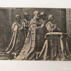 Postais: EL ESCORIAL (MADRID) POSTAL GRUPO EN BRONCE DE LEONI. CARLOS V, SU MUJER, HIJA Y HERMANOS.. Lote 166441658