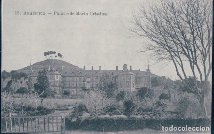 POSTAL ARANJUEZ - PALACIO DE MARIA CRISTINA - J ROIG 15 - MADRID (Postales - España - Comunidad de Madrid Antigua (hasta 1939))