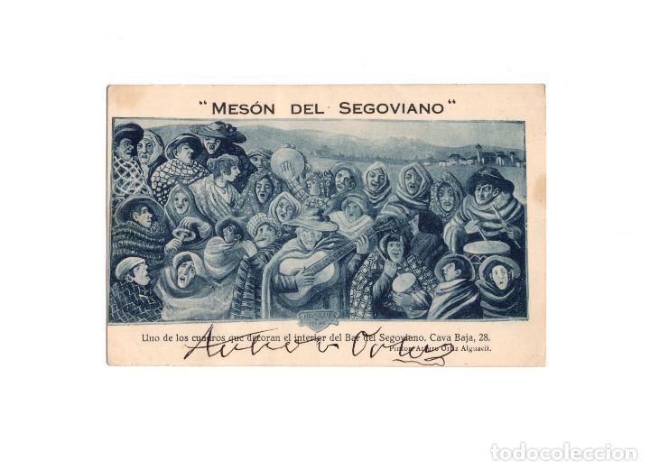 MADRID.- MESÓN DEL SEGOVIANO.- CAVA BAJA Nº 28. (Postales - España - Comunidad de Madrid Antigua (hasta 1939))