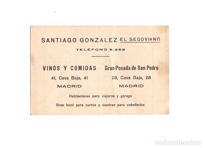 Postales: MADRID.- MESÓN DEL SEGOVIANO.- CAVA BAJA Nº 28. - Foto 2 - 167875112