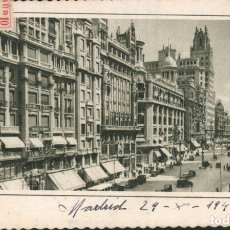 Postales: POSTAL ARTÍSTICA DE MADRID AVENIDA JOSÉ ANTONIO CIRCULADA 1949 EDICIONES GARCIA GARABELLA. Lote 168337332