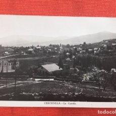 Postales: CERCEDILLA POSTAL FOTOGRAFICA LA CUERDA SOMOSIERRA MADRID BAZAR DE CERCEDILLA ANTIGUA. Lote 168404512