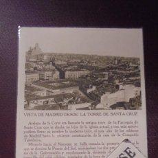 Postcards - MADRID - VISTA DE MADRID DESDE LA TORRE CAMPOS EDC. CAYÓN MADRID TEXTO PEDRO DE RÉPIDE - 14X9 CM. - 169337124