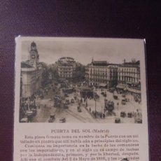 Postcards - MADRID - PUERTA DEL SOL EDC. CAYÓN MADRID TEXTO PEDRO DE RÉPIDE - 14X9 CM. - 169337344