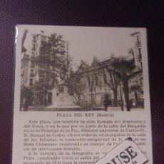 Postcards - MADRID - PLAZA DEL REY EDC. CAYÓN MADRID TEXTO PEDRO DE RÉPIDE - 14X9 CM. - 169337500