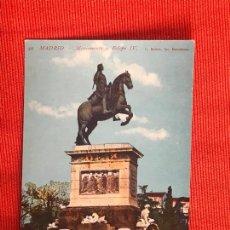 Postales: MADRID MONUMENTO A FELIPE IV. Lote 169431240