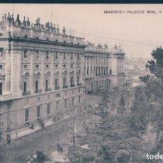 Postales: POSTAL MADRID - PALACIO REAL Y CALLE BAILEN - MH. Lote 169605044