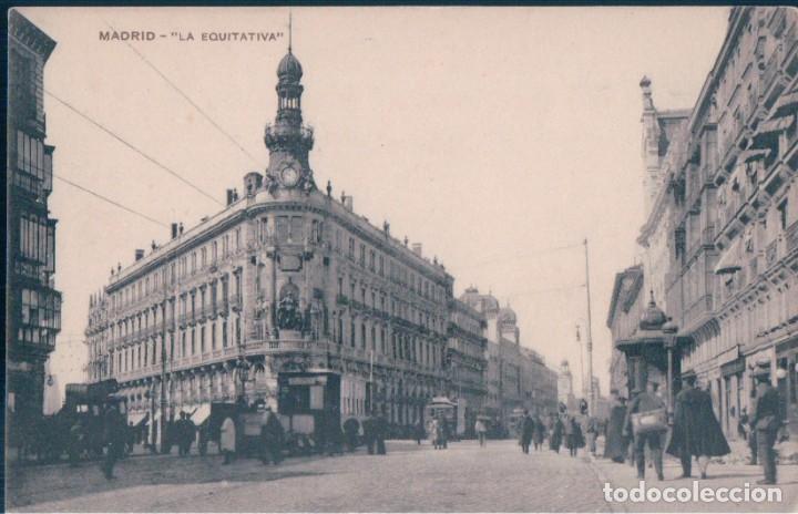 POSTAL MADRID - LA EQUITATIVA - MH (Postales - España - Comunidad de Madrid Antigua (hasta 1939))