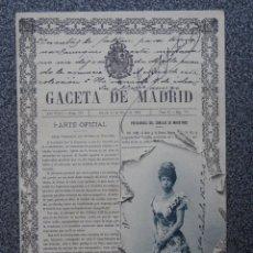 Postales: COLECCION PORTADAS PERIODICOS GACETA DE MADRID HAUSER 12 POSTAL ANTIGUA. Lote 169623574