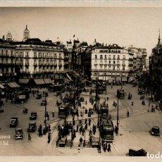 Postales: MADRID PUERTA DEL SOL POSTAL FOTOGRÁFICA ANTIGUA. Lote 169624290