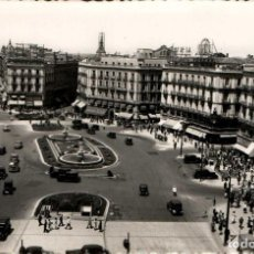 Postales: MADRID PUERTA DEL SOL POSTAL FOTOGRÁFICA ANTIGUA. Lote 169624294