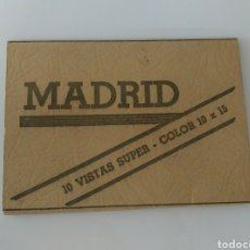 Postales: ACORDEÓN POSTALES ANTIGUAS MADRID 10 POSTALES COLOR. Lote 169979425