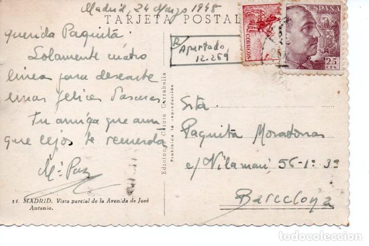 Postales: POSTAL DE MADRID - VISTA PARCIAL DE LA AVENIDA DE JOSÉ ANTONIO - Foto 2 - 170258516