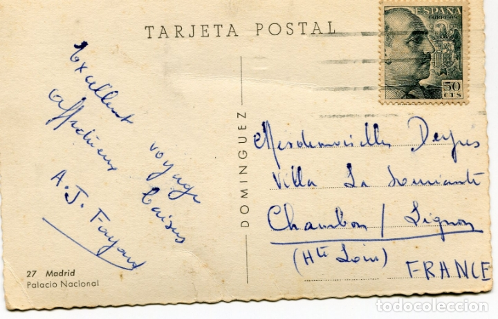 Postales: MADRID. PALACIO NACIONAL. DOMINGUEZ - Foto 2 - 170285164