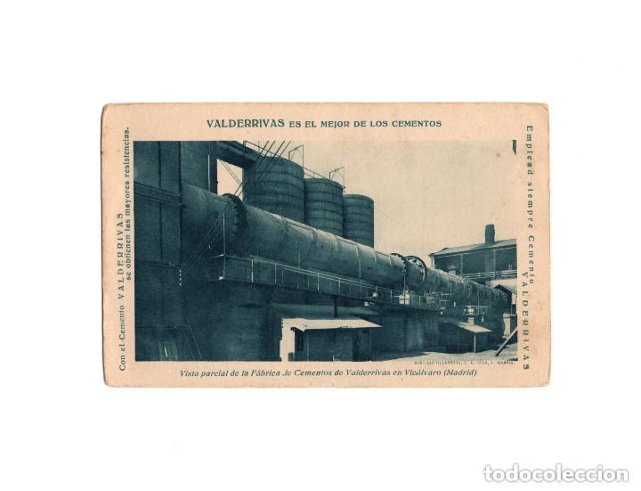 VICÁLVARO.(MADRID).- VALDERRIVAS ES EL MEJOR DE LOS CEMENTOS, VISTA DE LA FÁBRICA. (Postales - España - Comunidad de Madrid Antigua (hasta 1939))