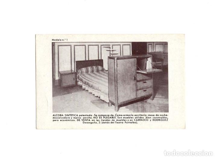 MADRID.- CALLE DESENGAÑO 3. CARRASCO Y RODRIGUEZ. ALCOBA SINTETICA. (Postales - España - Comunidad de Madrid Antigua (hasta 1939))
