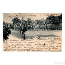 Postales: S. M. EL REY DON ALFONSO XIII EN LA REVISTA MILITAR 1902. FIESTAS REALES.. Lote 170701835