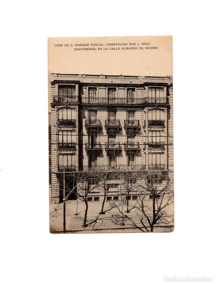 MADRID.- CASA DE D. ENRIQUE PUNCAL CONSTRUIDA POR J. GRAU. CALLE DE ALMAGRO 29. (Postales - España - Comunidad de Madrid Antigua (hasta 1939))