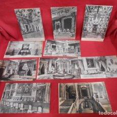 Postales: LOTE DE DIEZ POSTALES DEL PALACIO DE ORIENTE - MADRID -. Lote 171351039