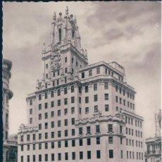 Postales: POSTAL MADRID - LA TELEFONICA - ARRIBAS - CIRCULADA. Lote 171535385