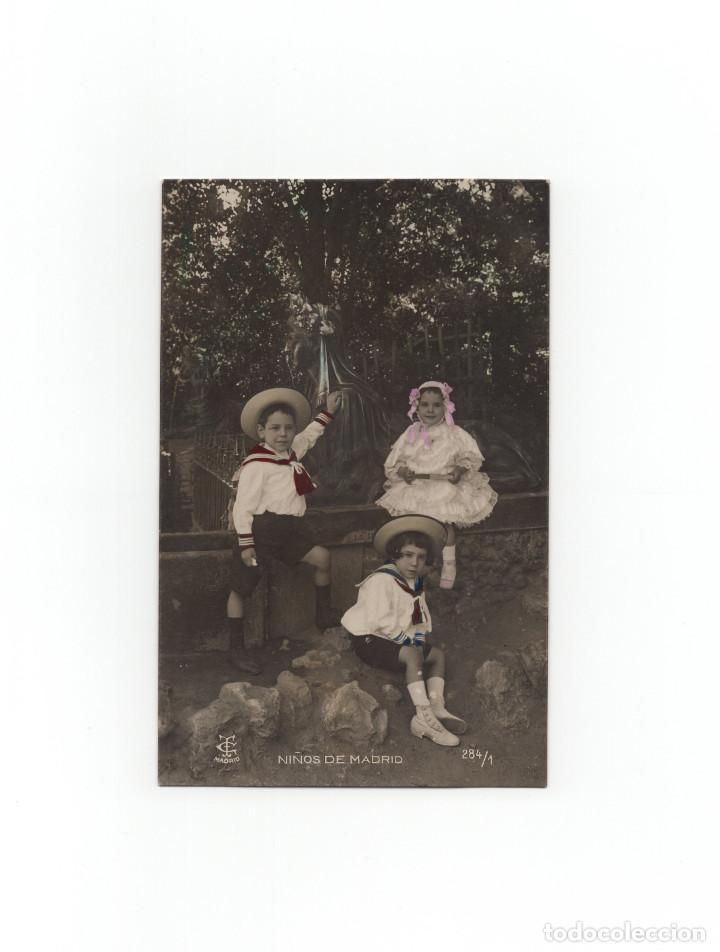 MADRID.- NIÑOS DE MADRID. POSTAL FOTOGRÁFICA. EDITORIAL TG. (Postales - España - Comunidad de Madrid Antigua (hasta 1939))