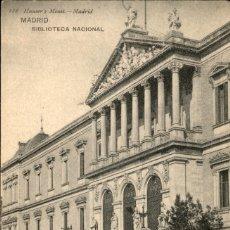 Cartoline: MADRID – BIBLIOTECA NACIONAL – HAUSER Y MENET - 9 X 14 CMS. Lote 172155828