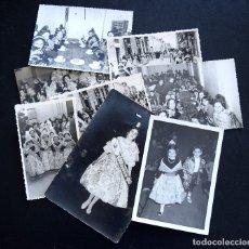 Postales: LOTE 8 FOTOGRAFÍAS DE FALLERAS INFANTILES Y ADULTAS AÑO 60 - DIFERENTES FOTÓGRAFOS. Lote 172834434