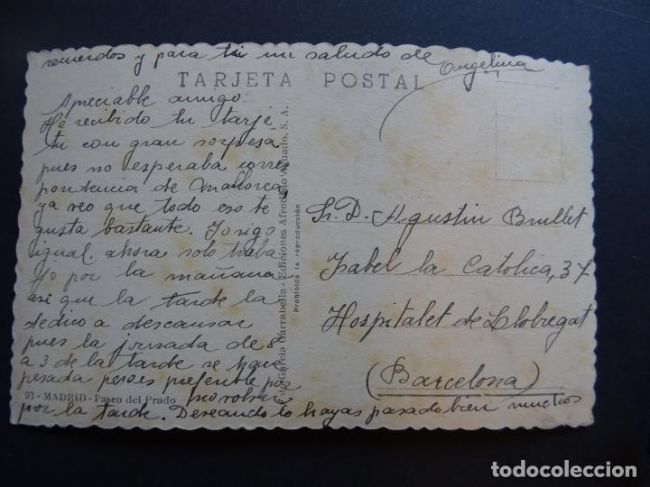 Postales: Madrid, antigua postal circulada del Paseo del Prado - Foto 2 - 172904120
