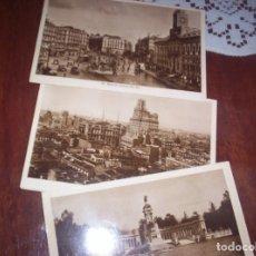 Postales: MADRID - LOTE DE TRES POSTALES - RETIRO, PUERTA DEL SOL Y VISTA PARCIAL. Lote 173882278