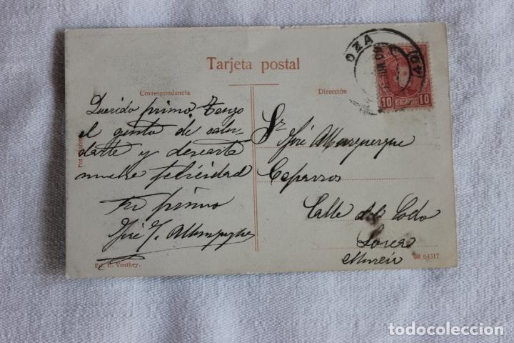 Postales: POSTAL EL ESCORIAL, PATIO DE LOS EVANGELISTAS, 1909, EDICION. E. VENTHEY - Foto 2 - 174213075